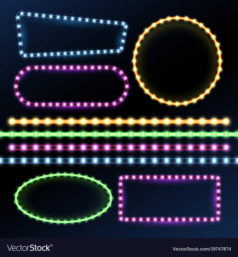Neon And Led Strips Diode Light Border Frames