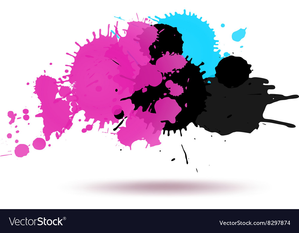 Purple and blue color ink