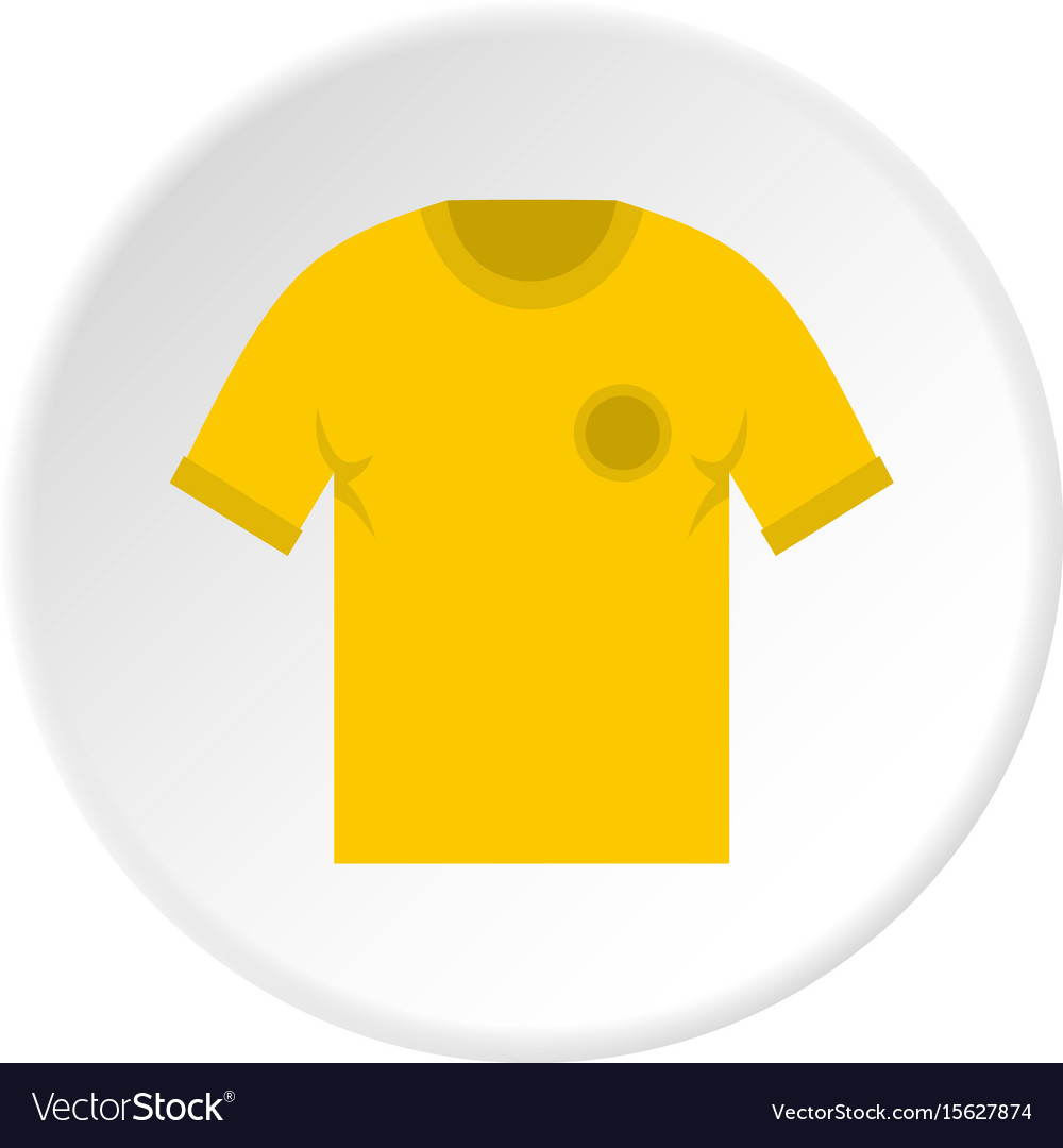 Yellow soccer shirt icon circle vector image
