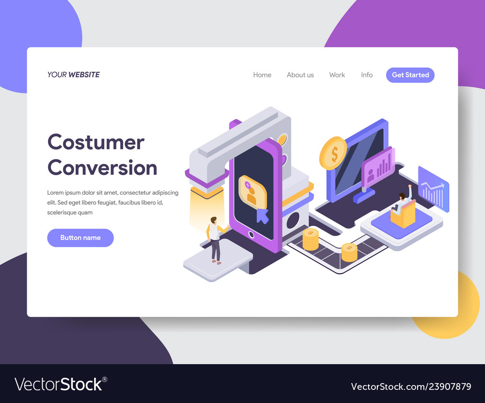 Customer conversion isometric