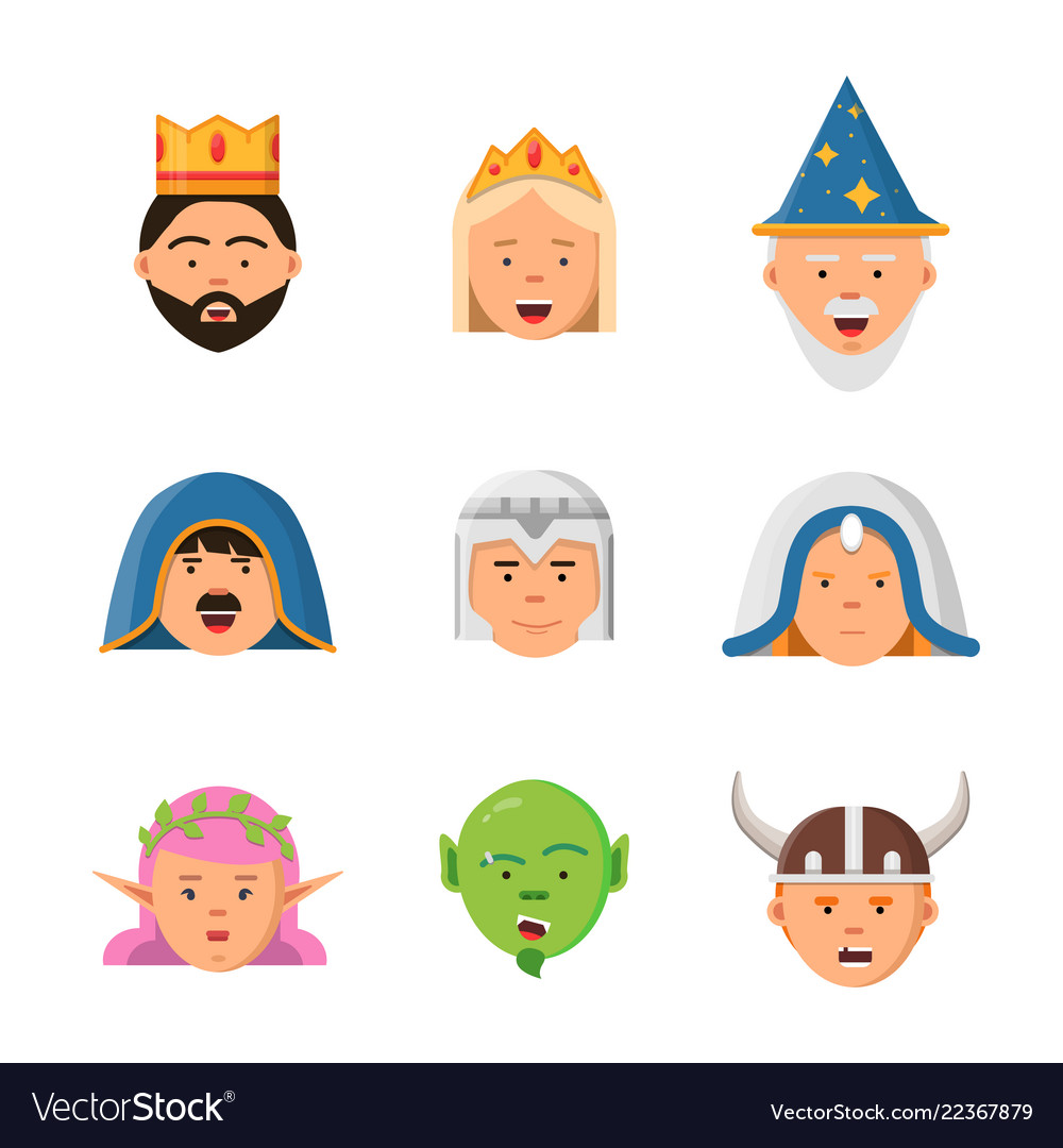 Fairytale avatars collection fantasy game