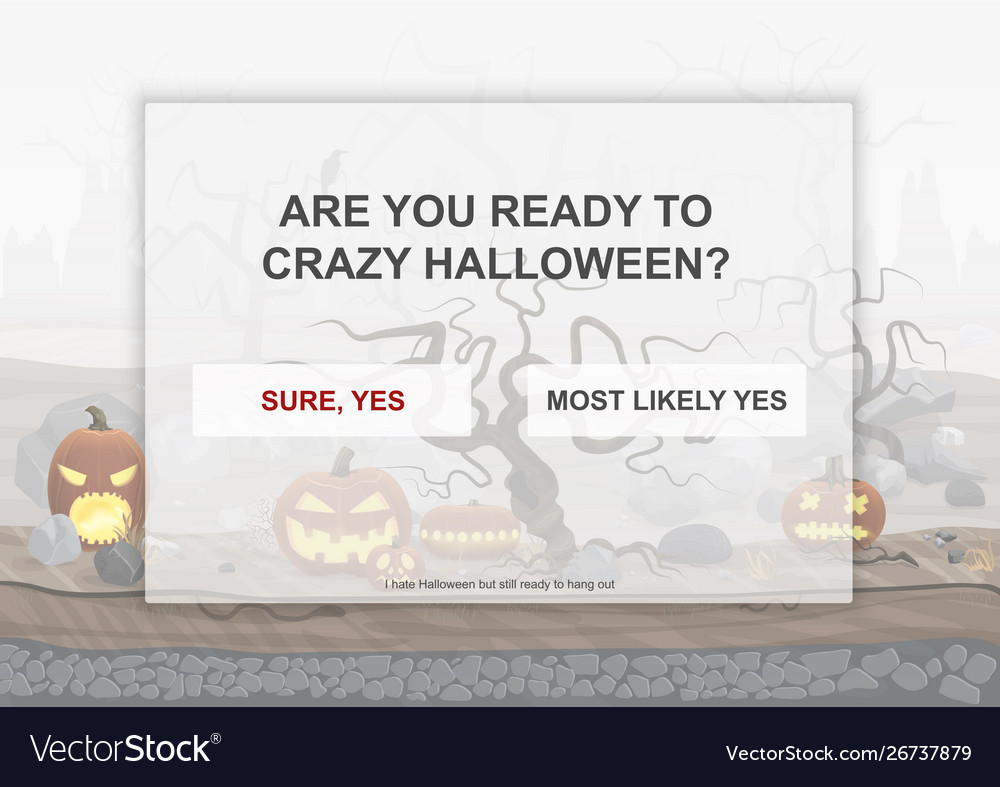 Halloween party landing page poster with hell