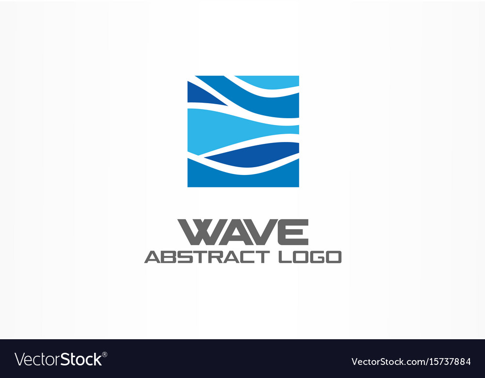 Abstract logo for business company nature ocean vector image