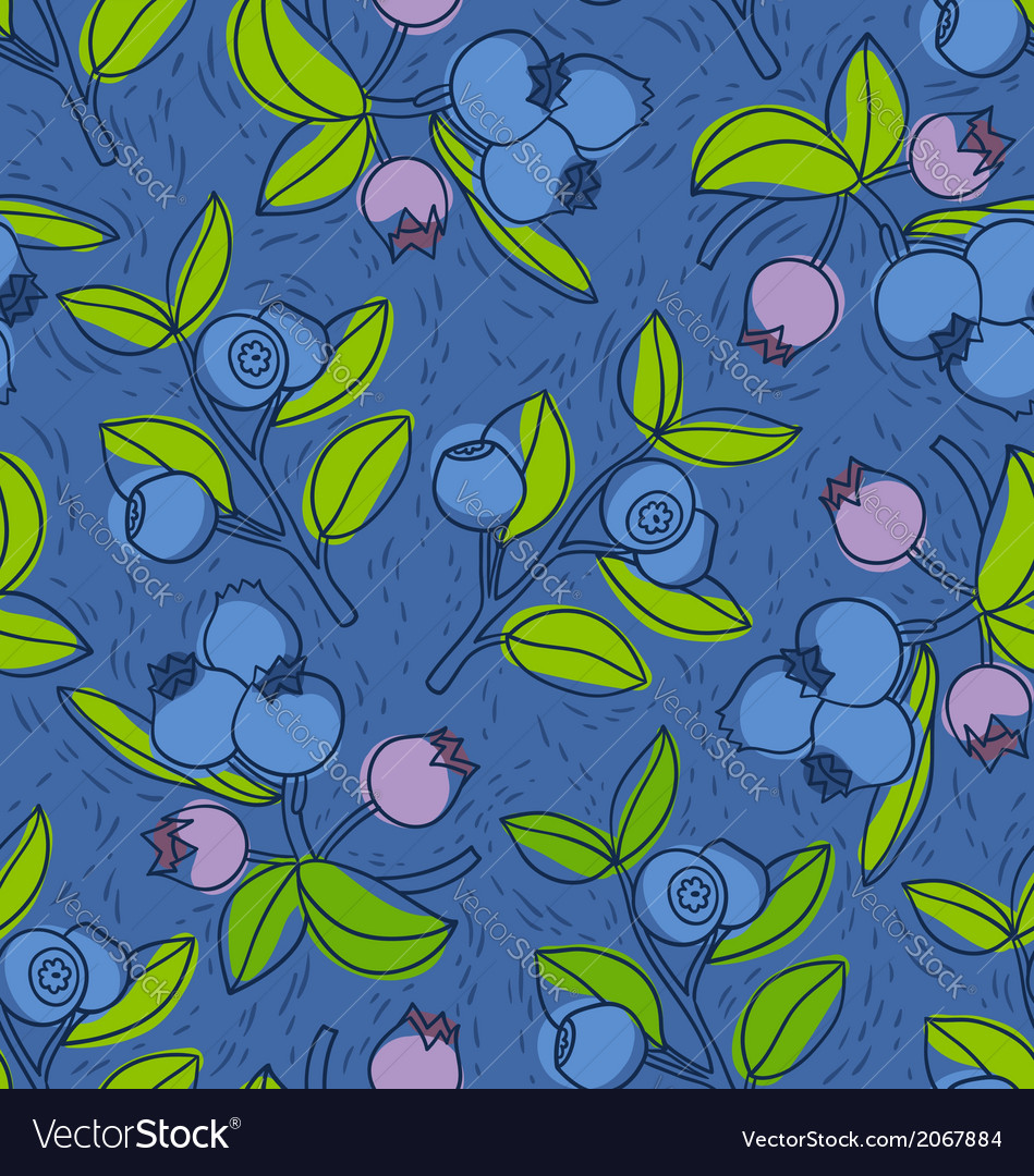 Blueberry and bilberry pattern