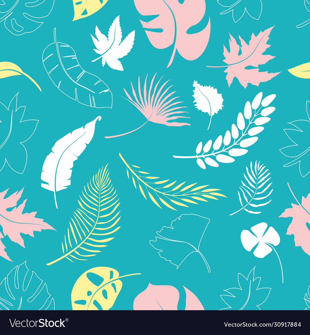 Collage contemporary floral seamless pattern