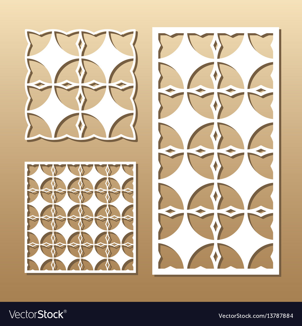 Geometric laser cut vector image