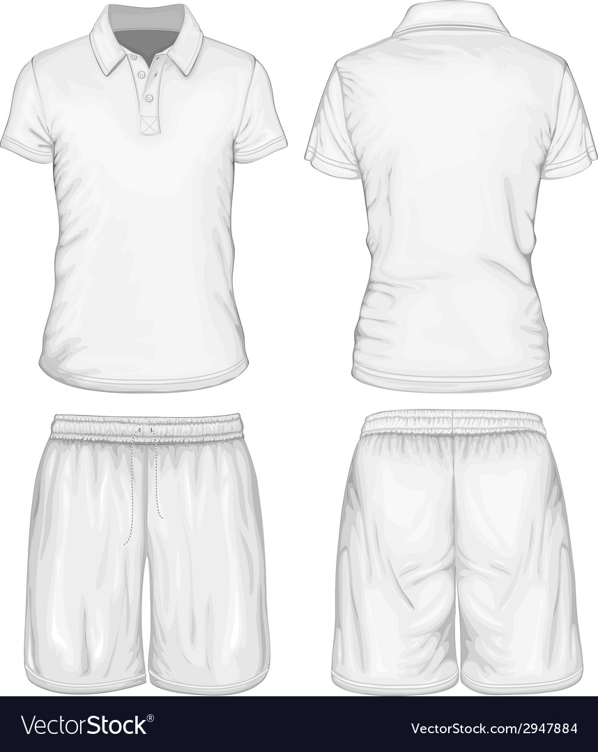 Mens Polo Shirt And Sport Shorts Royalty Free Vector Image