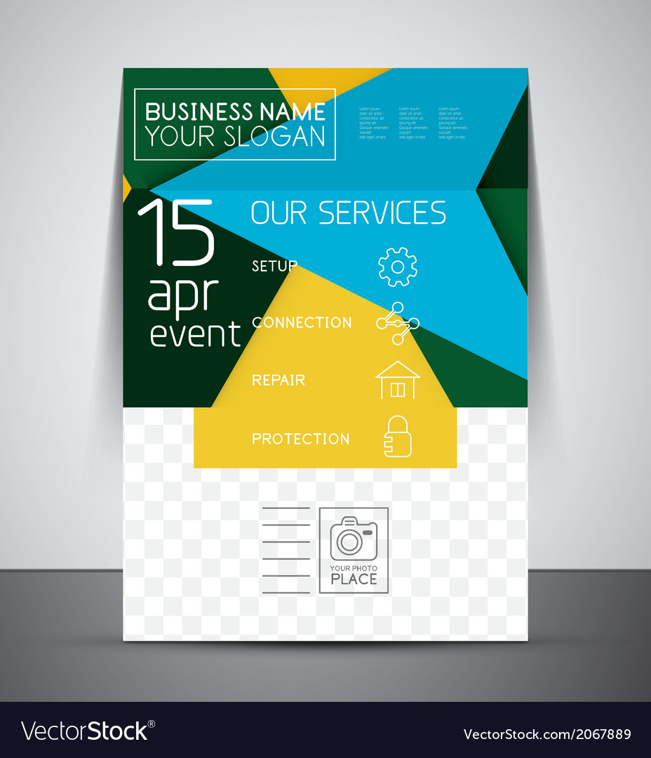 Business Corporate Flyer Template Royalty Free Vector Image