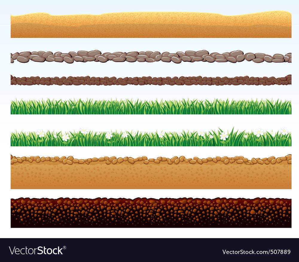 Ground elements vector image