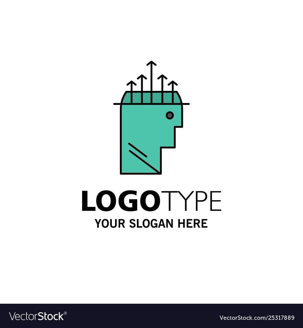 Hand hypnosis data psychology business logo