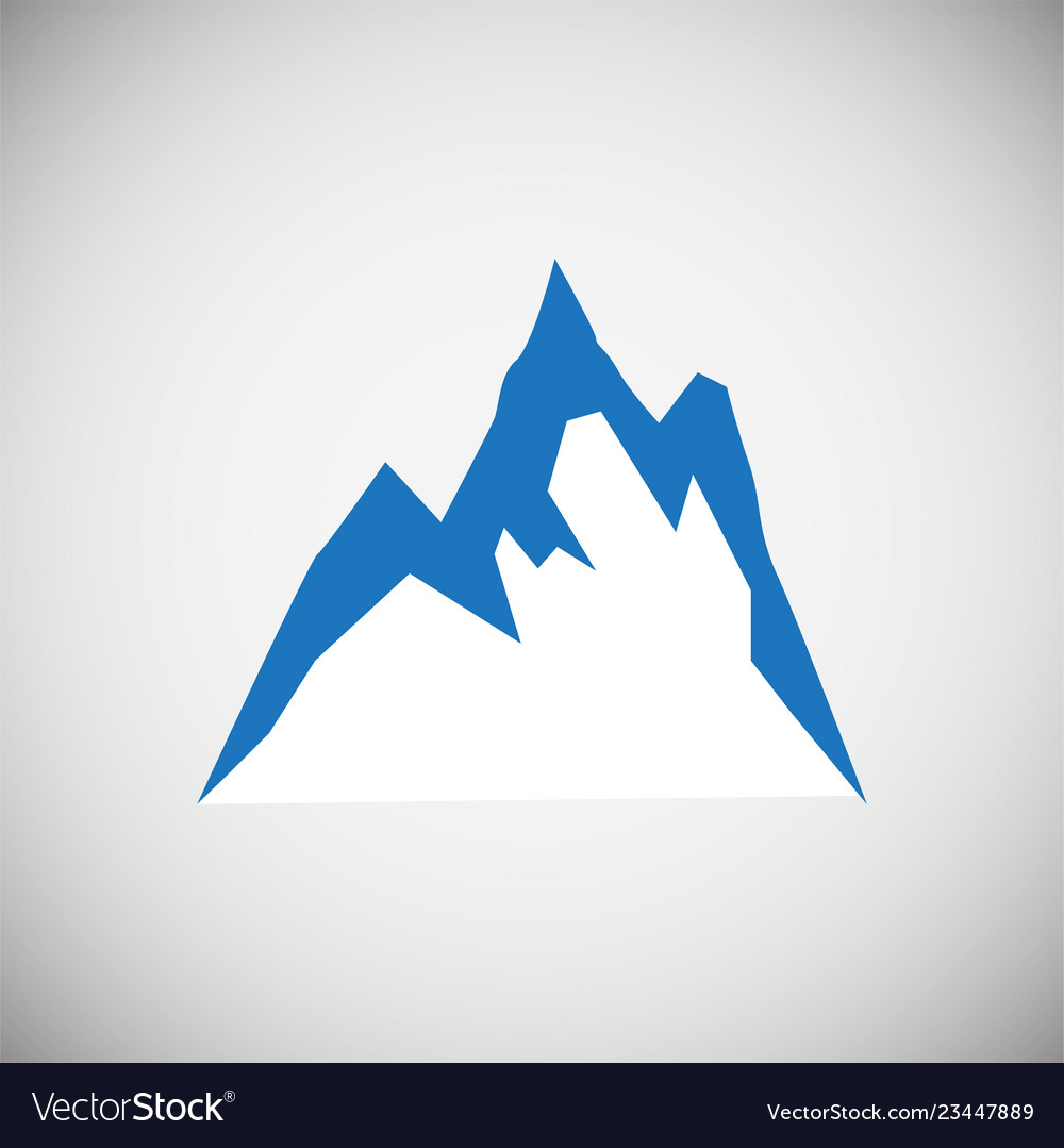 Mountain icon blue on white background for graphic vector image on  VectorStock