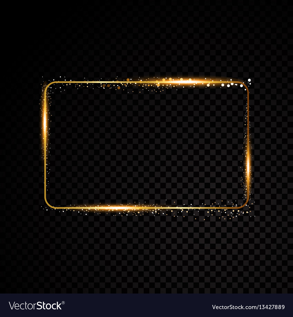Rectangle frame shining banner isolated