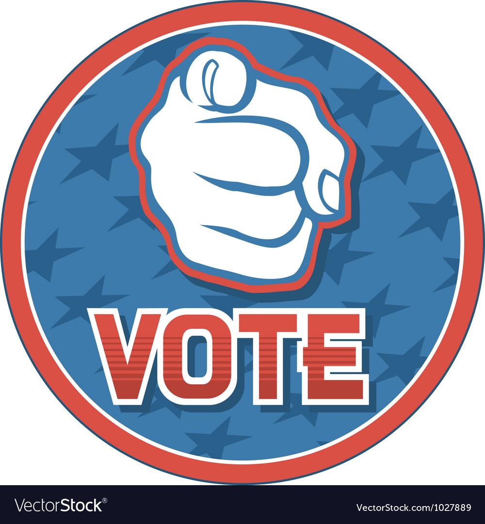 Vote USA badge