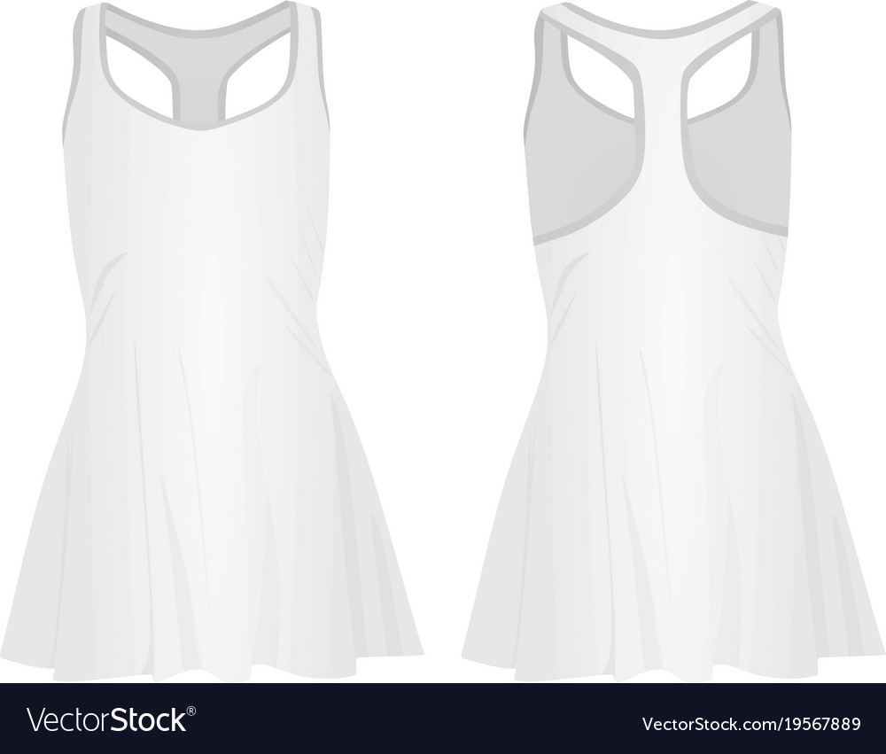fab5c79d6a42 White tennis dress Royalty Free Vector Image - VectorStock