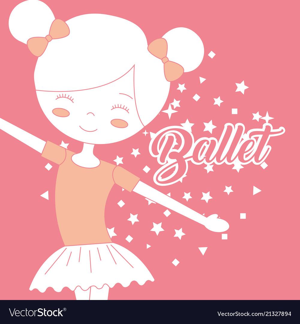 Beautiful ballerina dancer ballet pink background