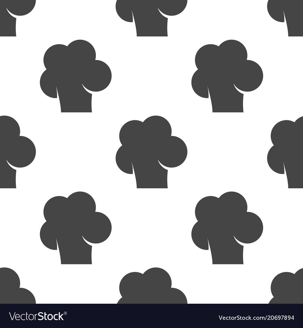Chef cap seamless pattern