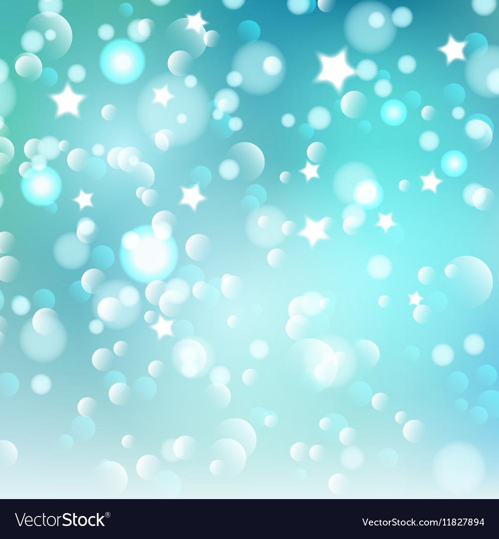 Christmas bokeh lights and stars 1609 vector image