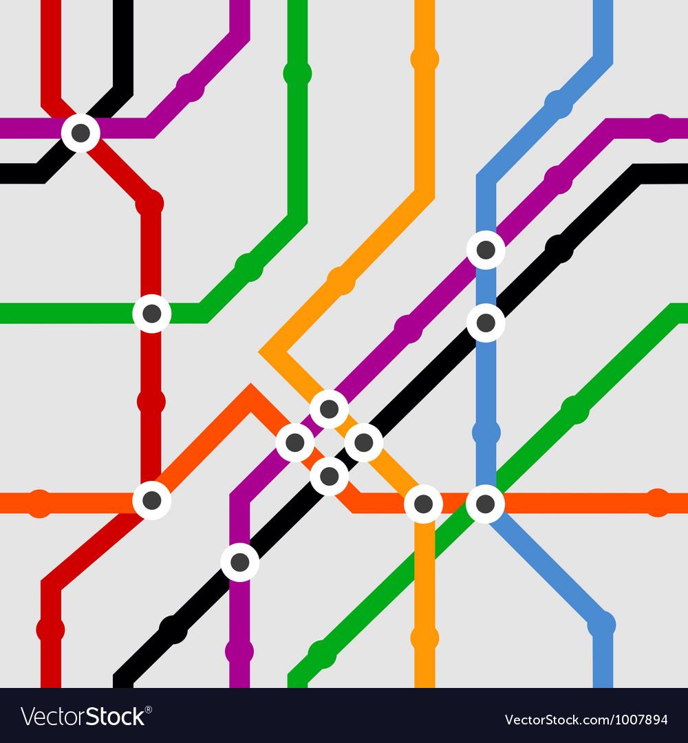 Color metro scheme seamless background