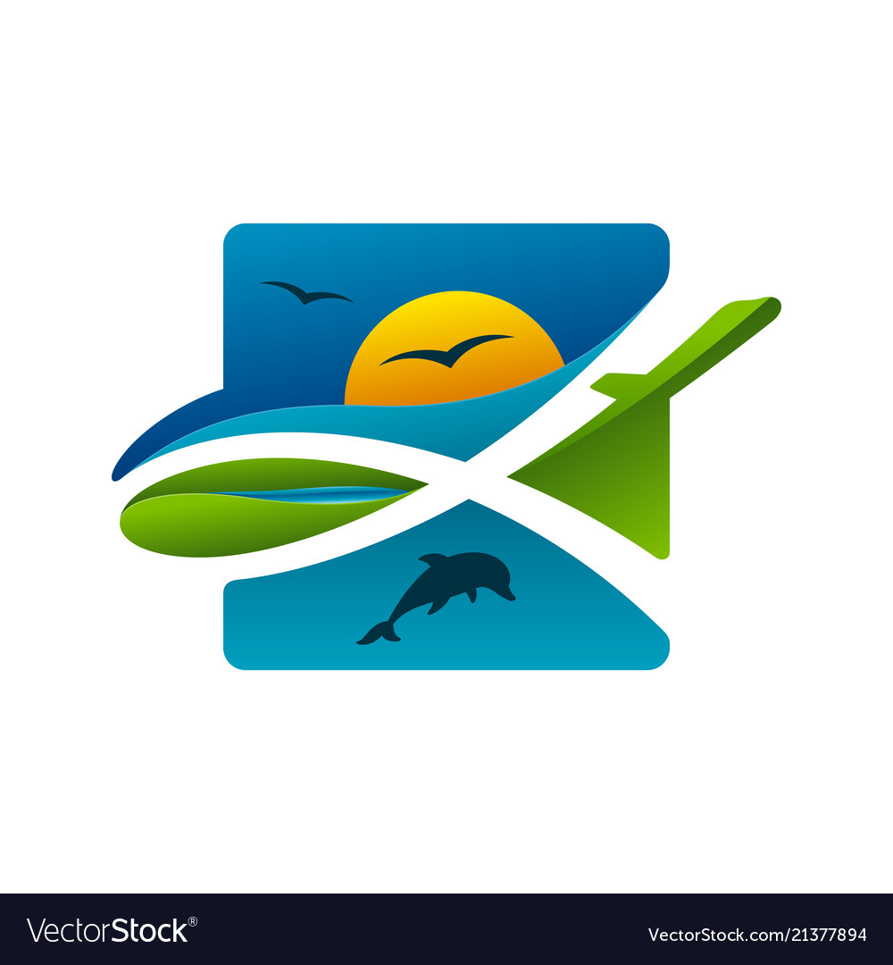 Colorful safari travel icon
