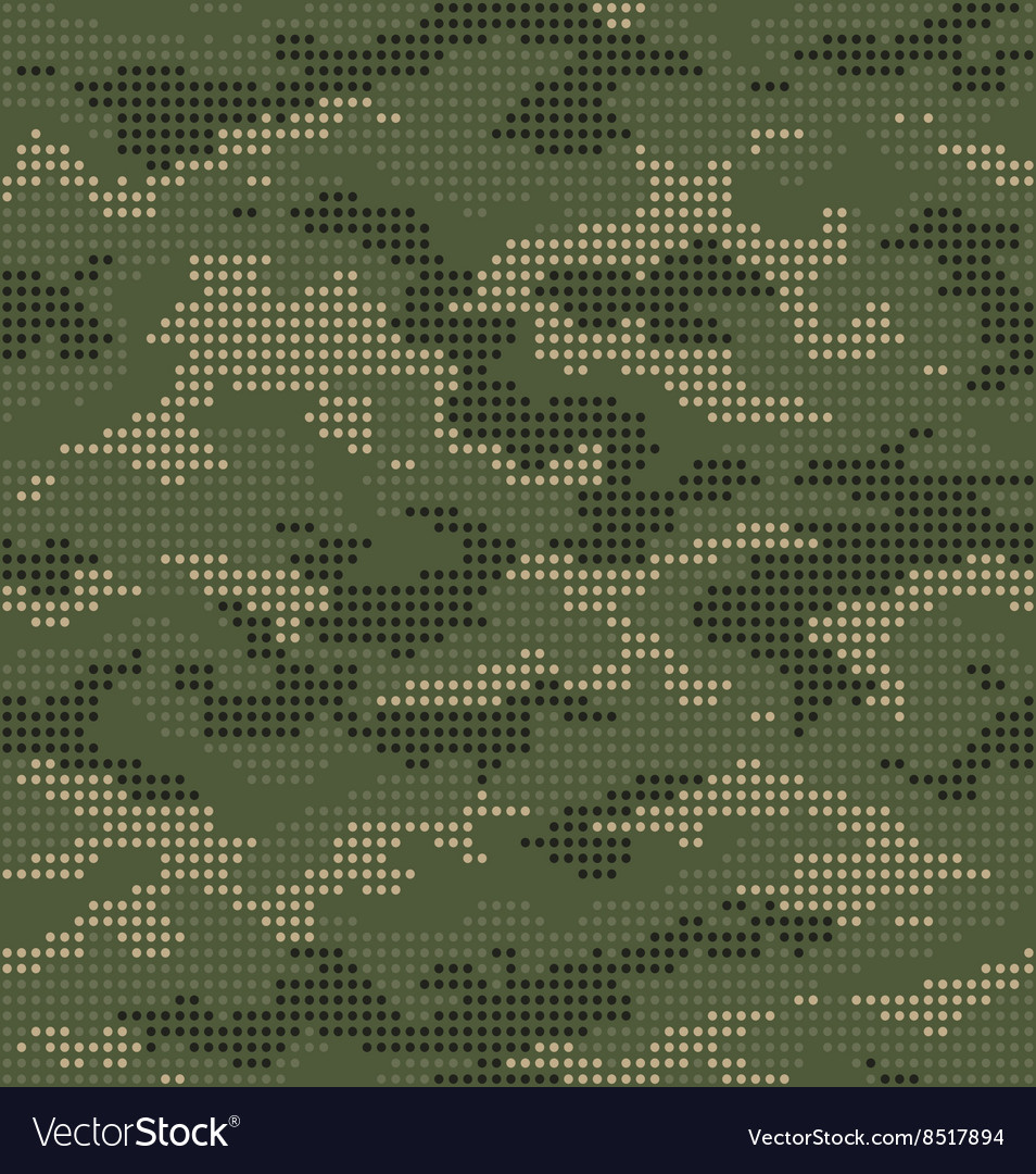 Dot camouflage seamless pattern green