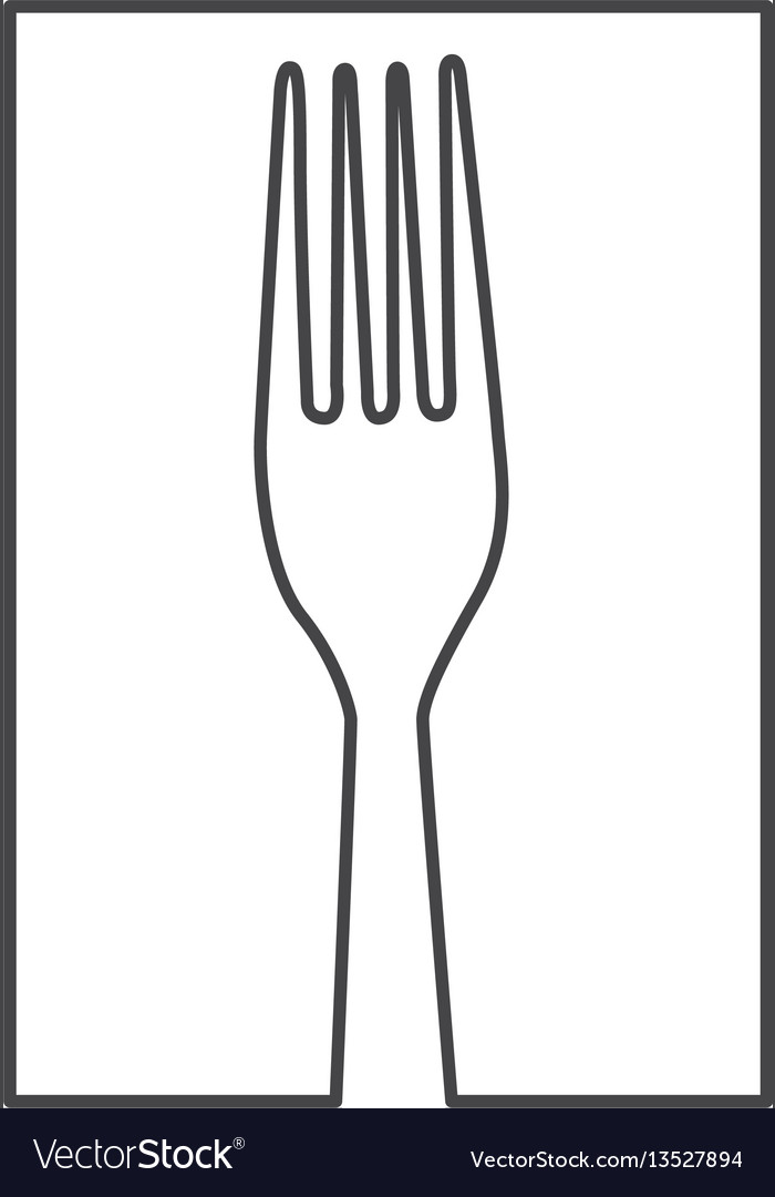 Figure fork cutlery icon