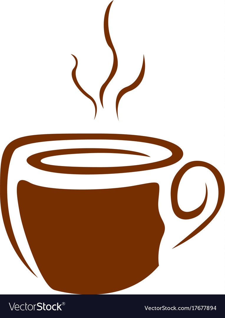 Isolated coffee mug logo Royalty Free Vector Image