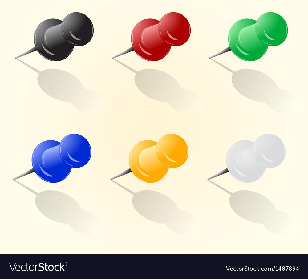 push pin set royalty free vector image vectorstock
