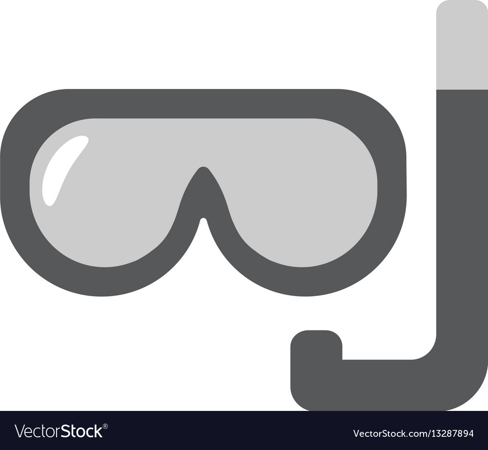 Scuba mask flat linear icon