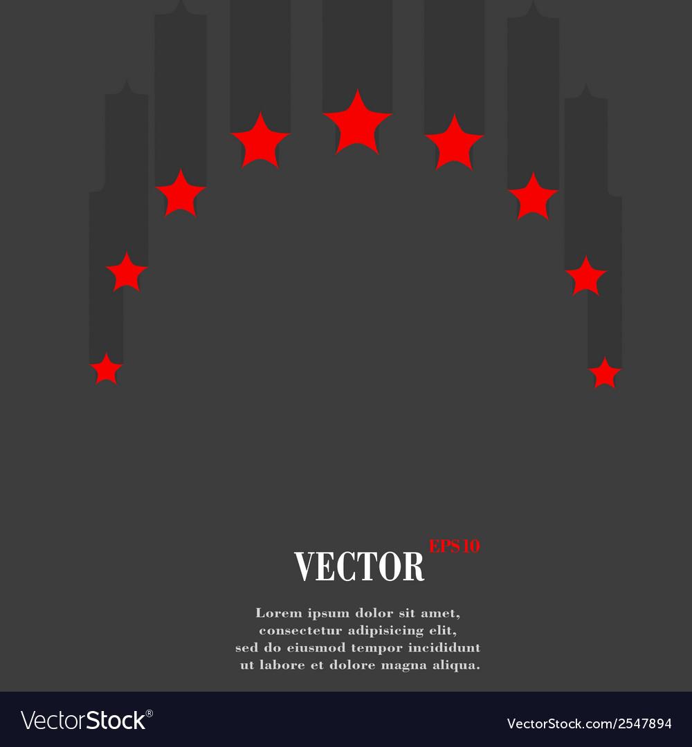 Star web icon flat design
