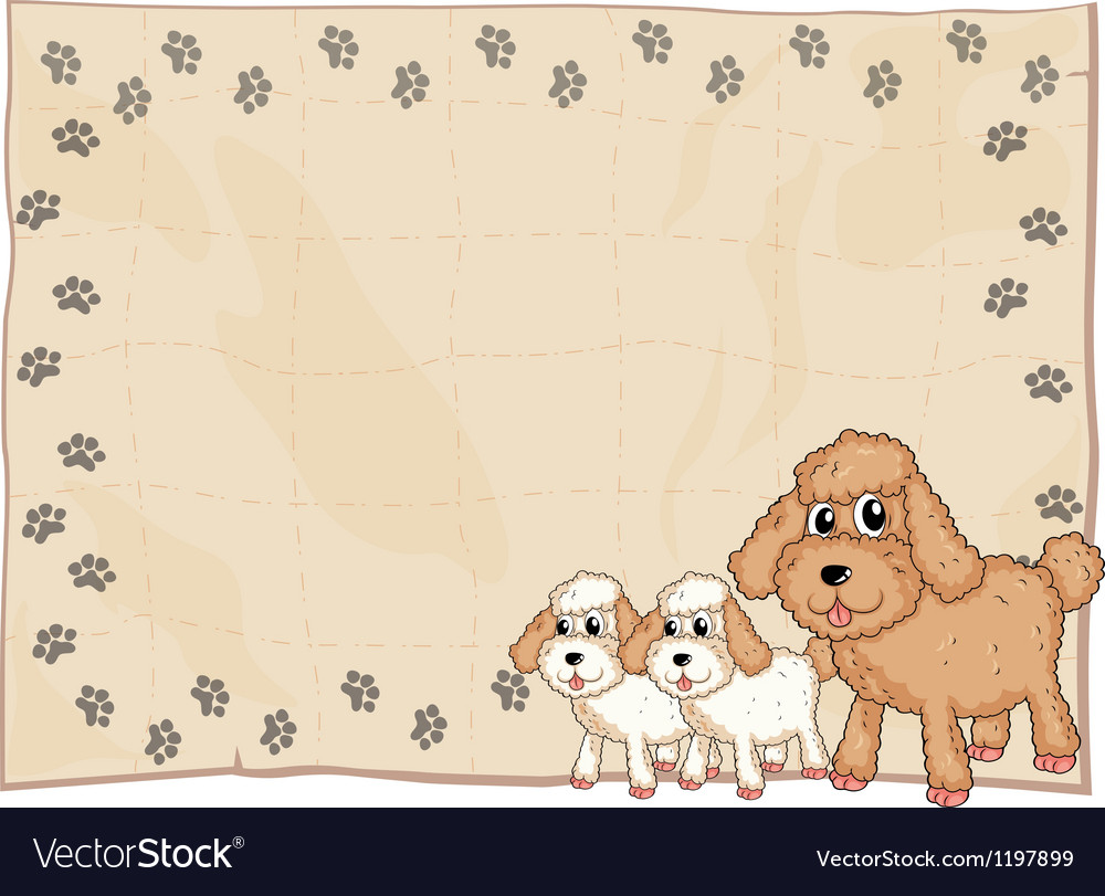 An animal design stationery vector image