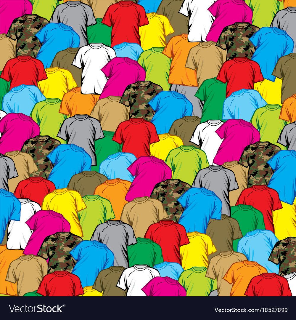 Background pattern with t-shirts