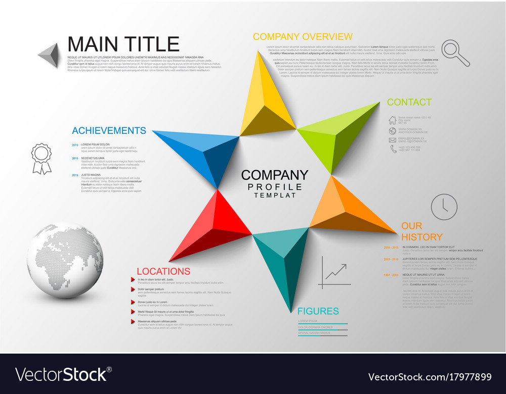 Company overview template Royalty Free Vector Image