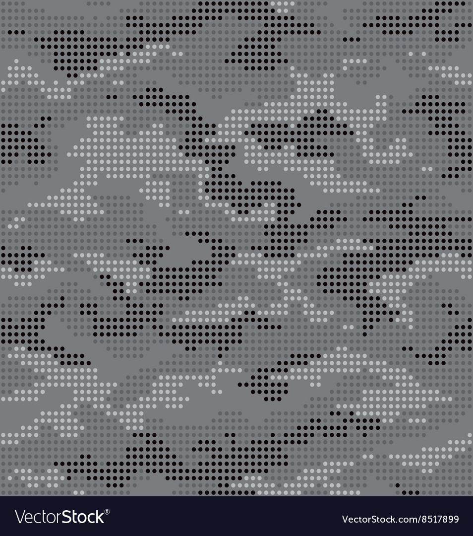 Dot camouflage seamless pattern gray vector
