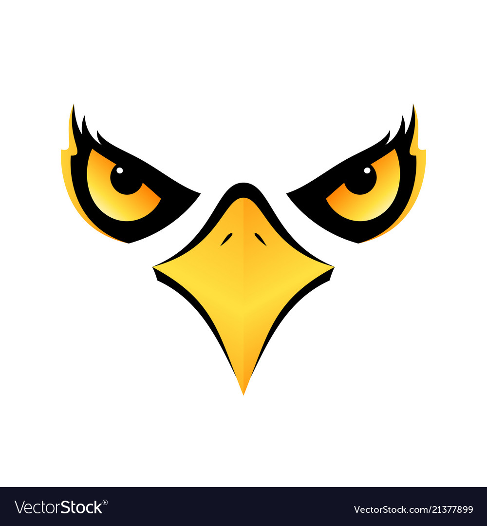 Eagle head on white background icon eps10