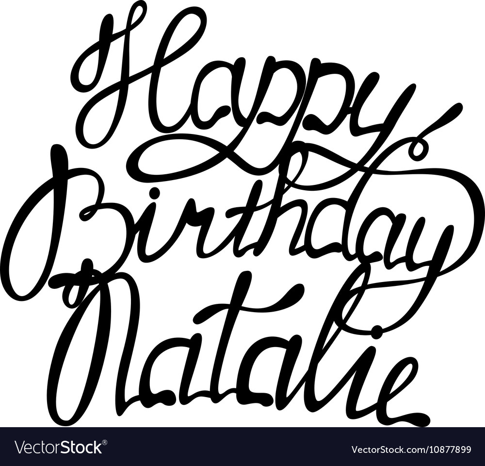 Happy birthday Natalie lettering