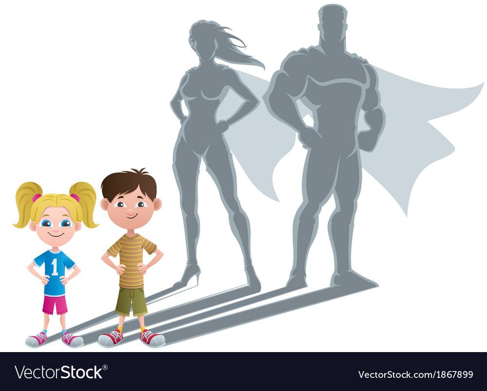 Kids Superhero Concept 2 vector image