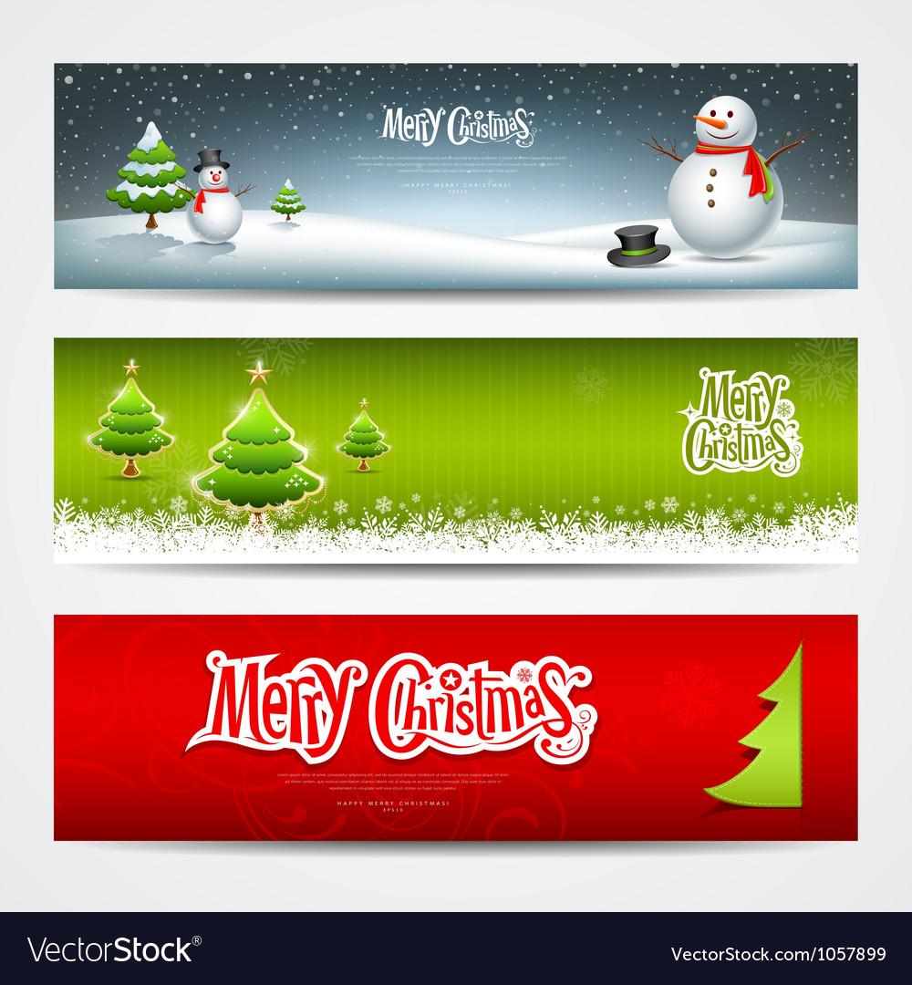 Merry Christmas banners set design