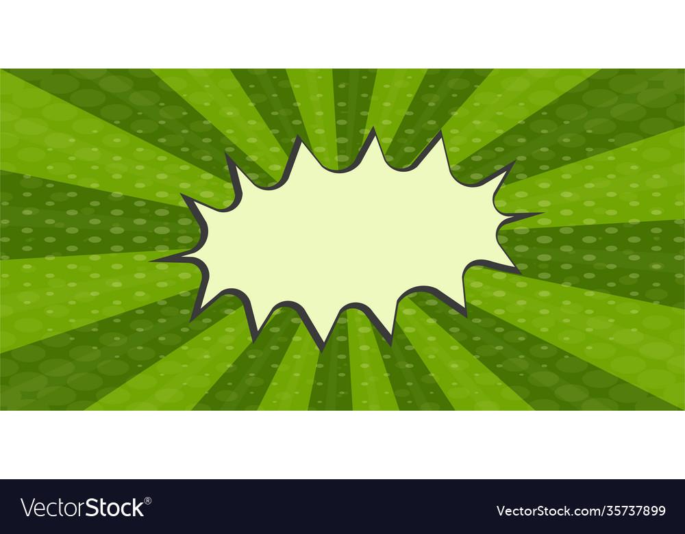 Pop art green watermelon comics book cartoon