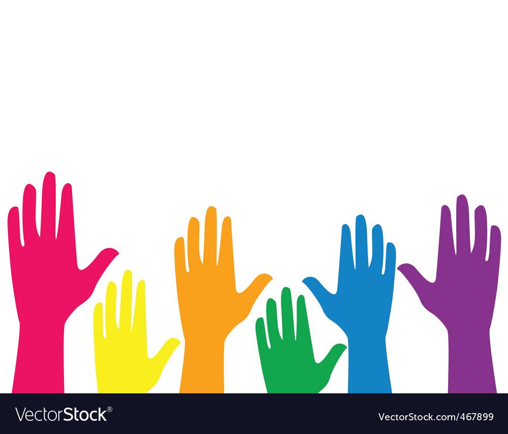 silhouette hands royalty free vector image vectorstock rh vectorstock com hand vector free download hand vector logo