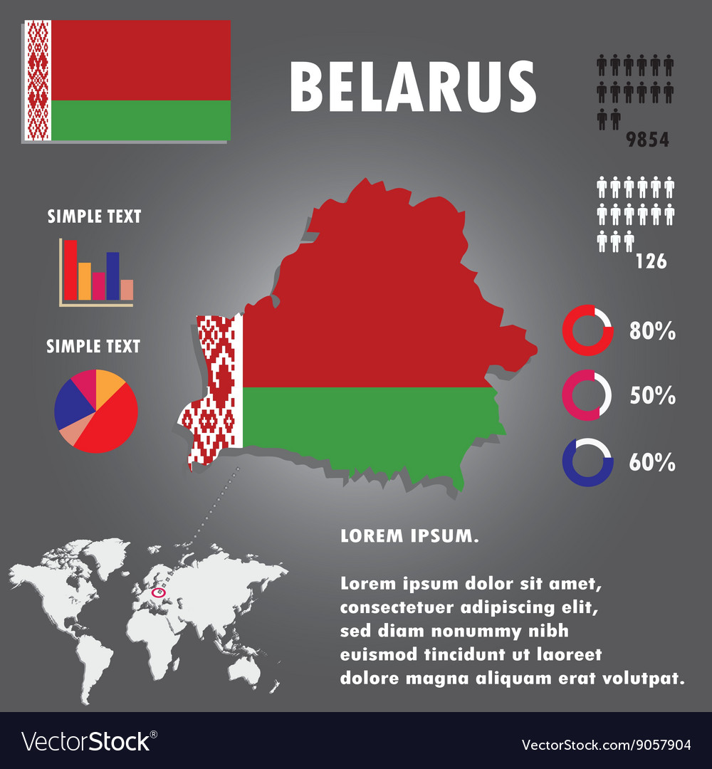 Belarus Country Infographics Template