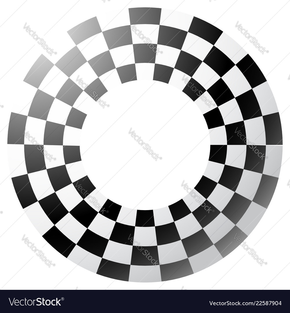 Checkered Chequered Border Frame Isolated Art Vector Image