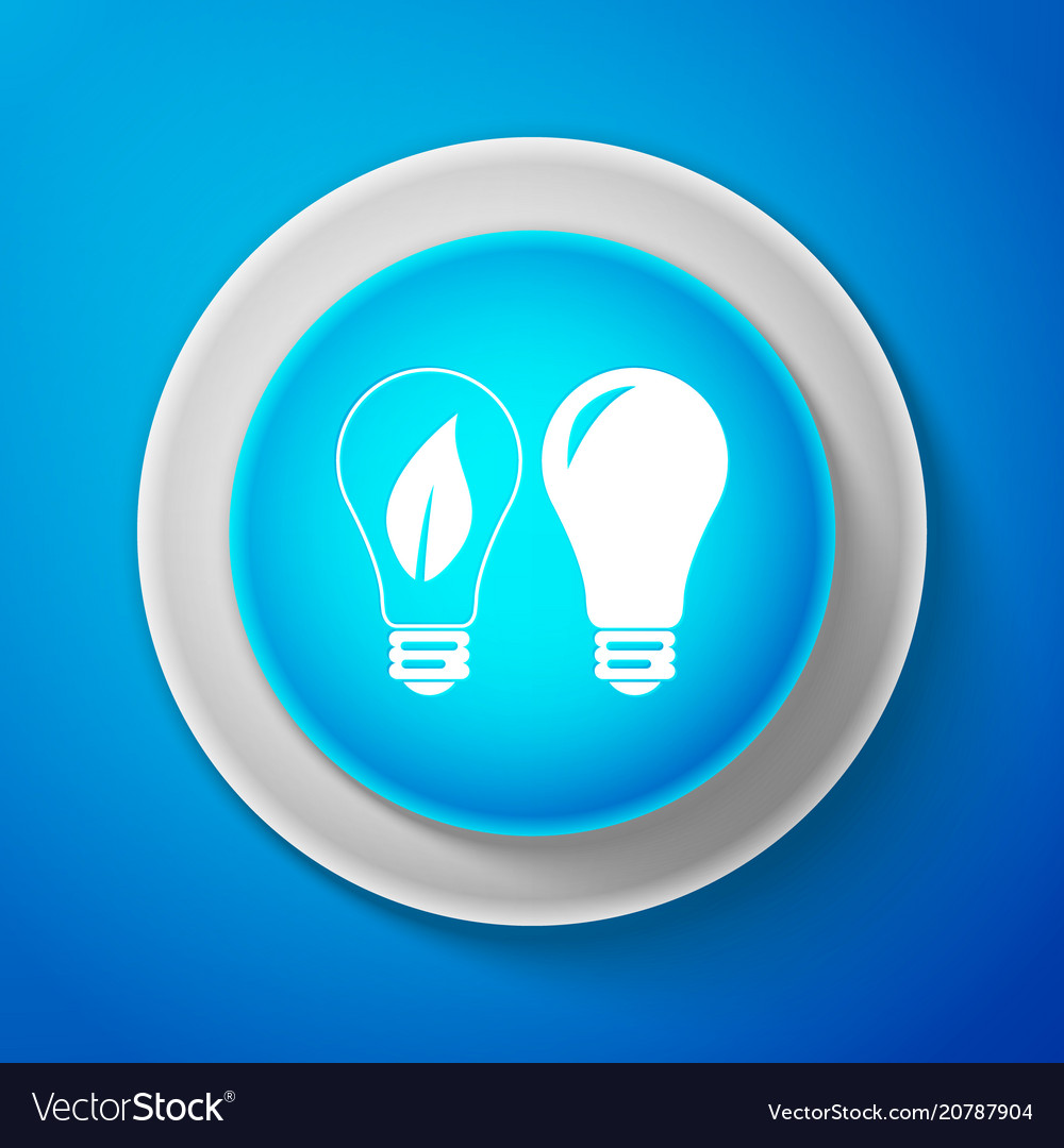 Classic lamp and light bulb with leaf inside icon vector image
