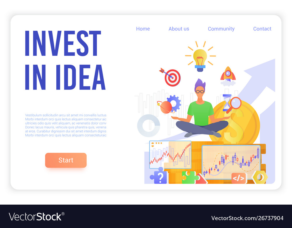 Invest in idea landing page template