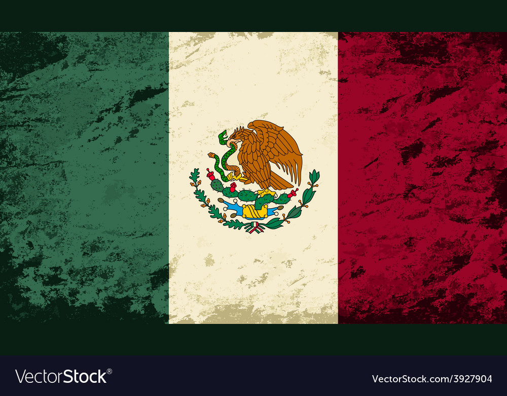 Mexican flag Grunge background