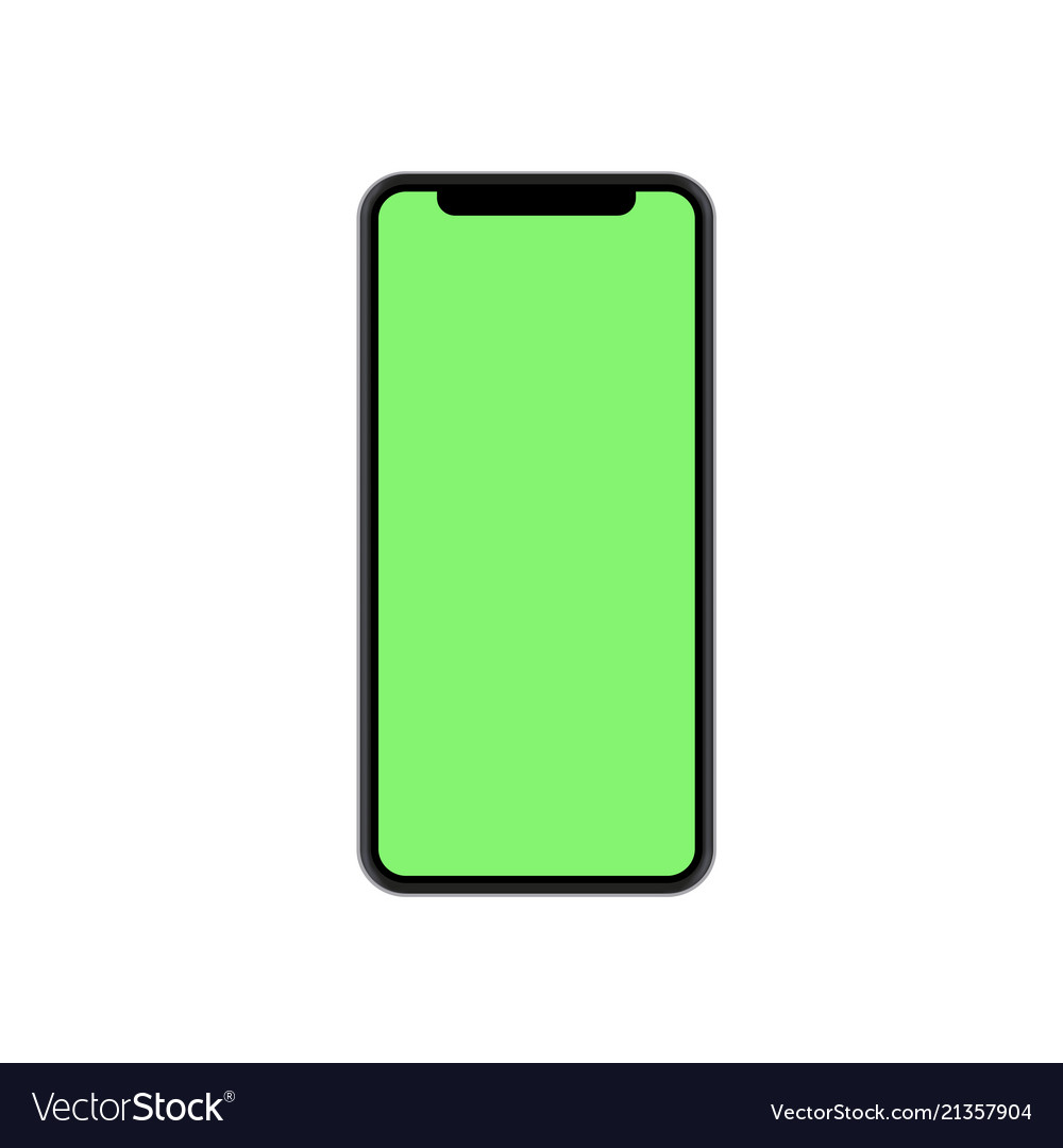 Modern concept smartphone with green screen