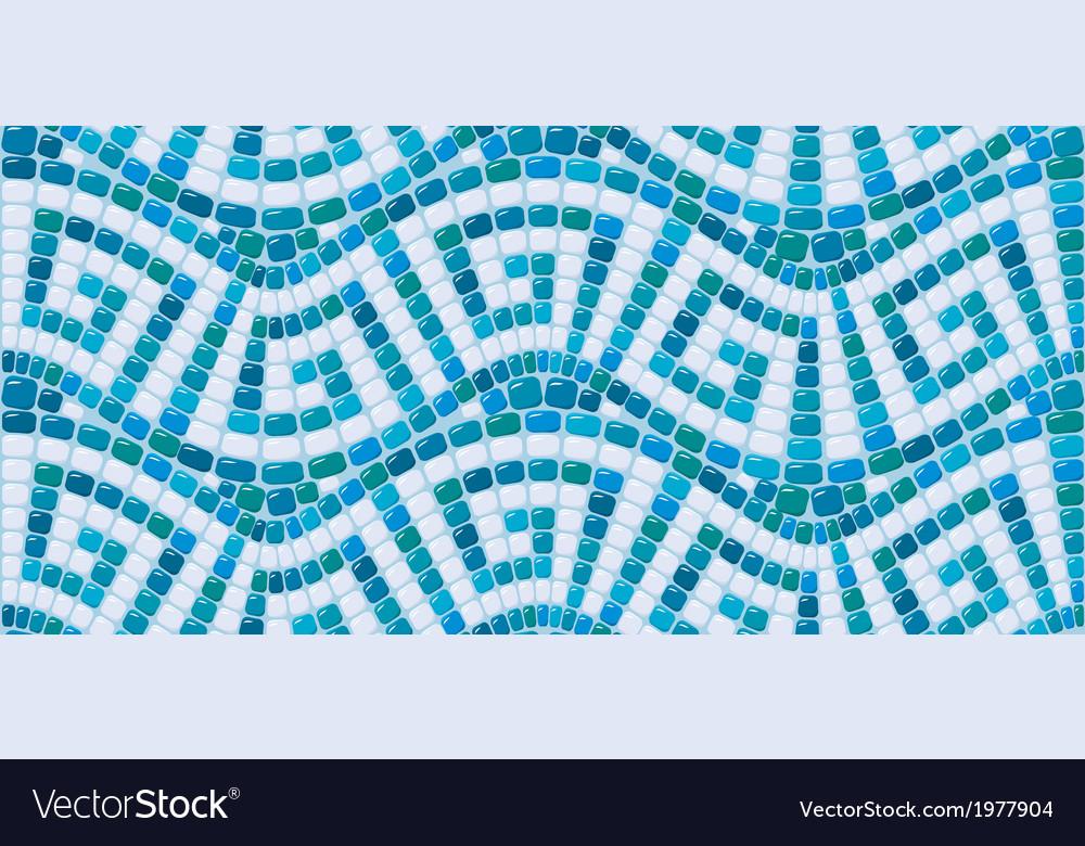 Seamless mosaic pattern - Blue ceramic tile - clas