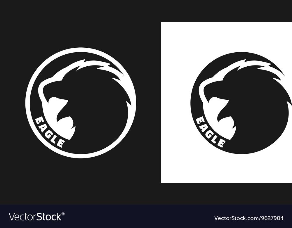 Silhouette of an eagle monochrome logo