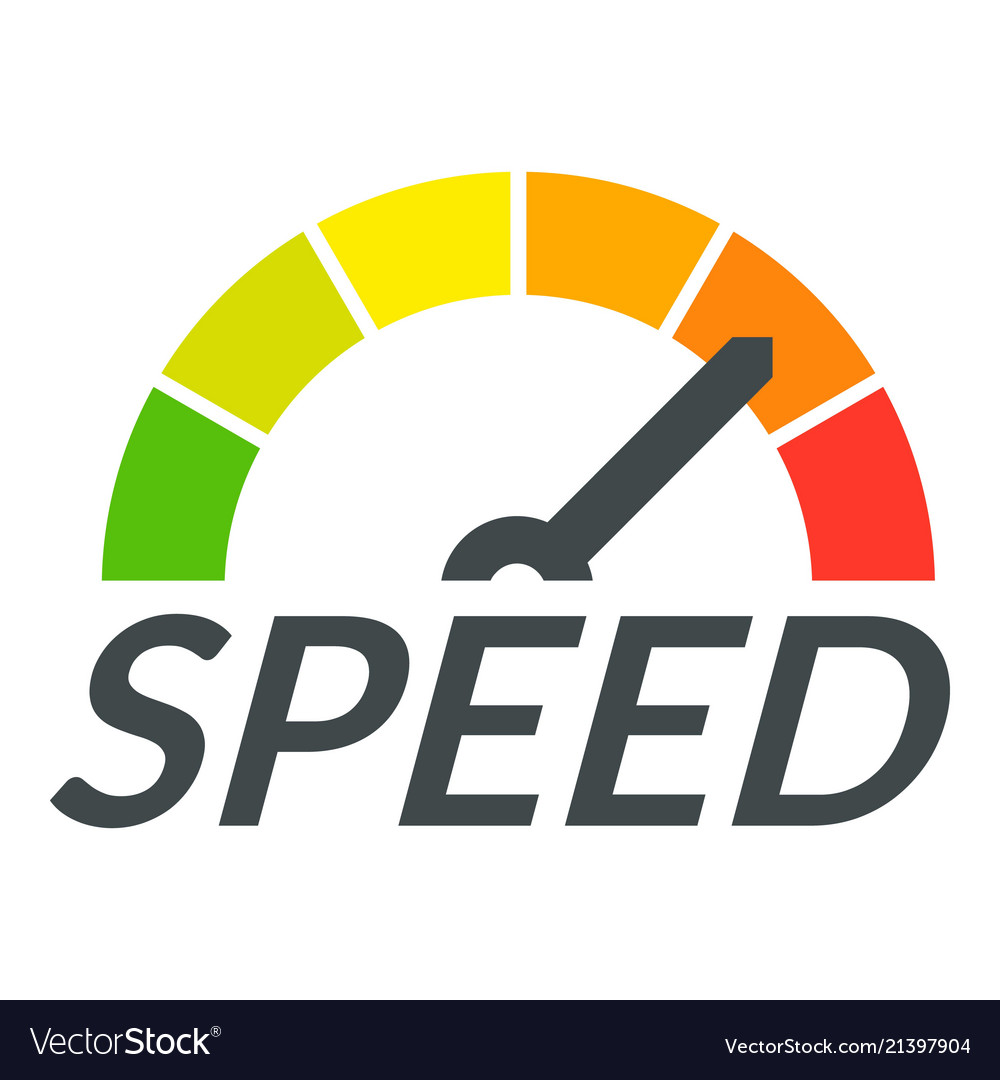 Speedometer design logo flat style