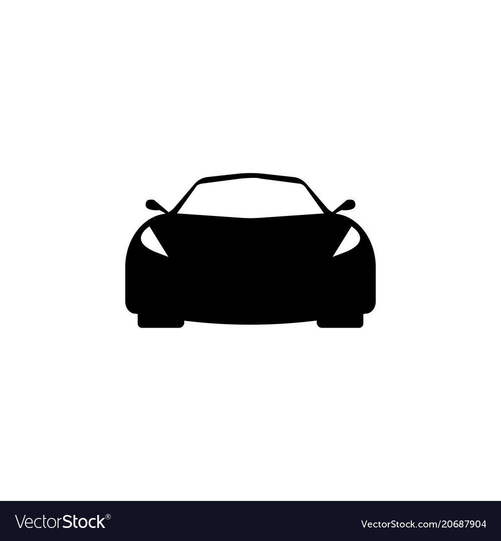 Sport car front view icon element of popular car