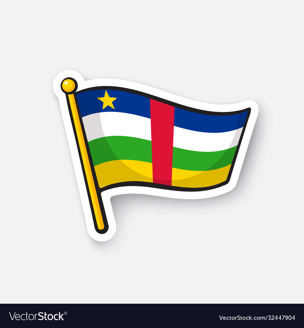 Sticker national flag central african republic